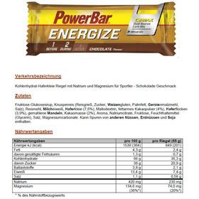 PowerBar Energize Riegel Box Chocolate 25 x 55g